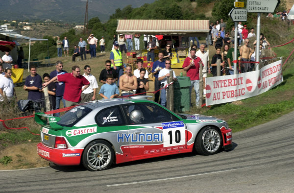 2001 World Rally Championship.Rallye de France, Ajaccio, Corsica, October 19-21.Alister McRae on stage 4.Photo: Ralph Hardwick/LAT