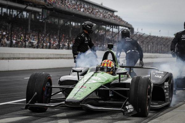 Oriol Servia, Arrow Schmidt Peterson Motorsports Honda, pit stop