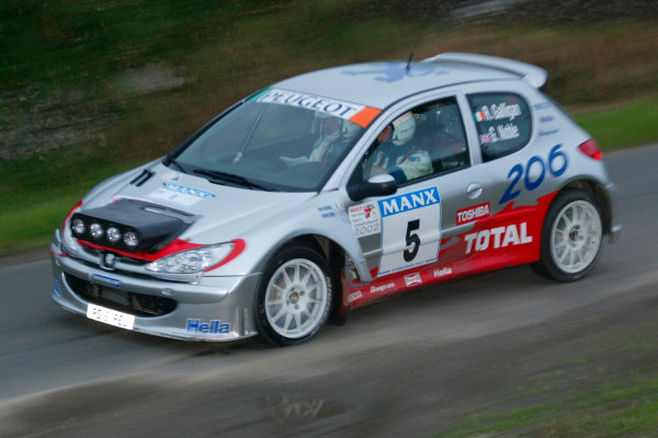 2002 British Rally Championship.Manx International Rally. Douglas, Isle of Man.1-3 August 2002.Rory Galligan/Gordon Noble (Peugeot 206).Ref-02 MIR 30.World Copyright - Malcolm Griffiths/LAT Photographic