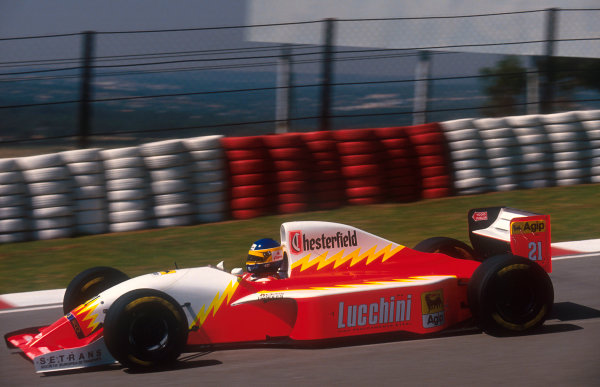 1993 South African Grand Prix.Kyalami, South Africa.12-14 March 1993.Michele Alboreto (Lola T93/30 Ferrari). He exited the race with an engine failure.Ref-93 SA 17.World Copyright - LAT Photographic