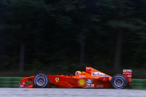 2000 German Grand Prix.Hockenheim, Germany. 28-30 July 2000.Michael Schumacher (Ferrari F1-2000).World Copyright - Bellanca/LAT Photographicref: 5mb digital Practice