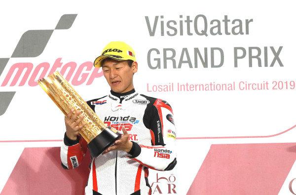Podium: Race winner Kaito Toba, Honda Team Asia.