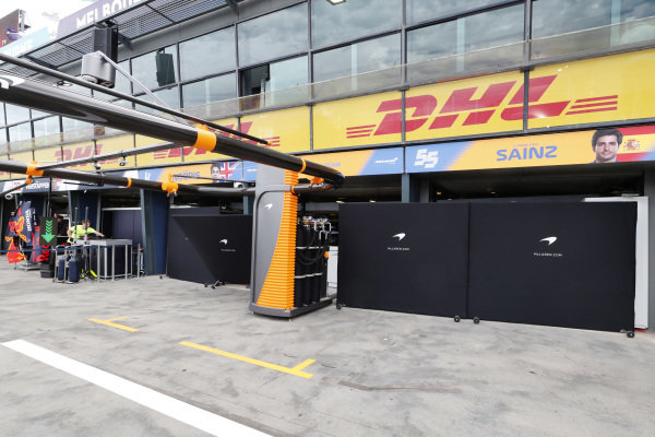 The McLaren pits