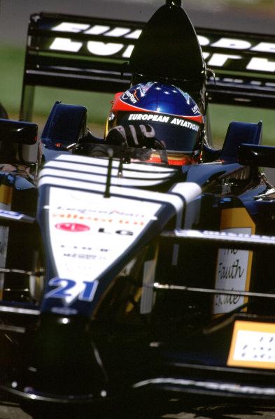 Australian Grand Prix.Albert Park, Melbourne, Australia. 2-4 March 2001.Fernando Alonso (Minardi PS01 European).World Copyright - Michael Cooper/LAT Photographic ref: 35mm Image Aus A06