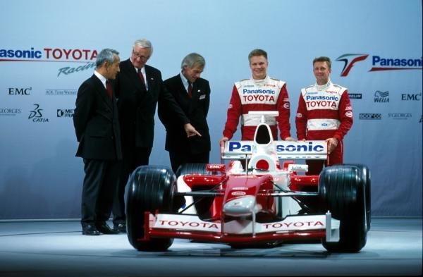 L-R: Ove Andersson (SWE), Gustav Brunner (AUT), Mika Salo (FIN), Allan McNish (GBR)