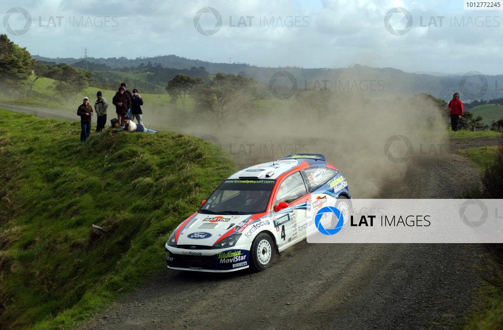 2002 World Rally Championship.Propecia Rally of New Zealand, Auckland, October 3rd-6th.Carlos Sainz during shakedownPhoto: Ralph Hardwick/LAT