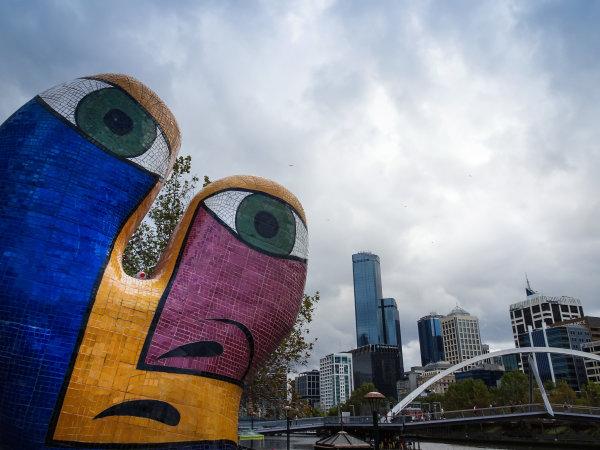 Melbourne, Australia Tuesday 21 March 2017. Sculpture in Melbourne Photo: Sam Bloxham/LAT ref: Digital Image DSC00128