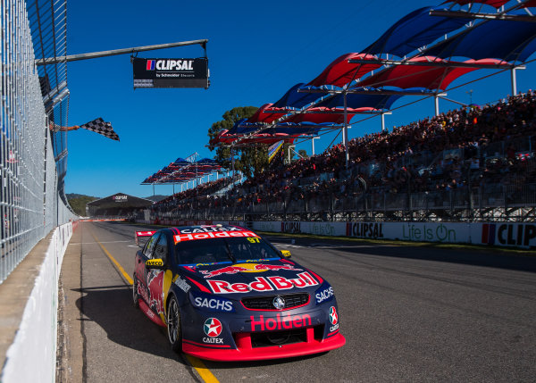 2017 Supercars Championship Round 1.  Clipsal 500, Adelaide, South Australia, Australia. Thursday March 2nd to Sunday March 5th 2017. Shane Van Gisbergen drives the #97 Red Bull Holden Racing Team Holden Commodore VF. World Copyright: Daniel Kalisz/LAT Images Ref: Digital Image 040317_VASCR1_DKIMG_6156.JPG