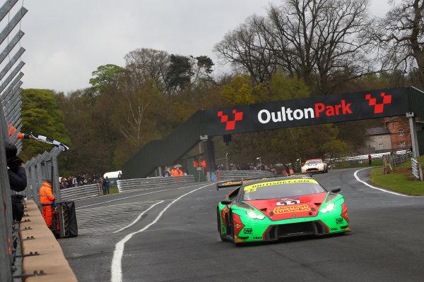 2017 British GT Championship, Oulton Park, 15th-17th April, 2017, Jon Minshaw / Phil Keen - Barwell Motorsport Lamborghini Hurracan GT3  World copyright. JEP/LAT Images