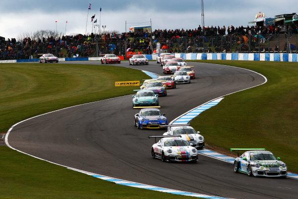 2017 Porsche Carrera Cup, Donington Park, 15th-16th April 2017, Tom Oliphant (GBR) Redline Racing Porsche Carrera Cup World Copyright. JEP/LAT Images