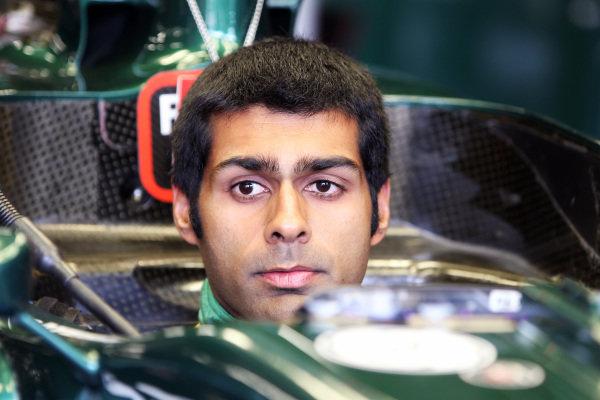 Karun Chandhok (IND) Team Lotus T128 Test Driver. Formula One World Championship, Rd 9, British Grand Prix, Preparations, Silverstone, England, Thursday 7 July 2011.