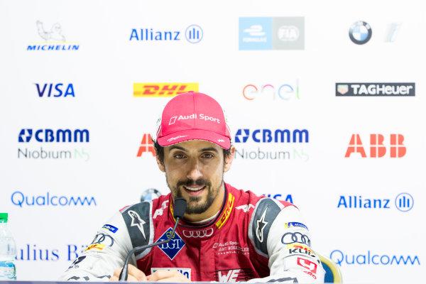 Lucas Di Grassi (BRA), Audi Sport ABT Schaeffler, Audi e-tron FE04, in the press conference.