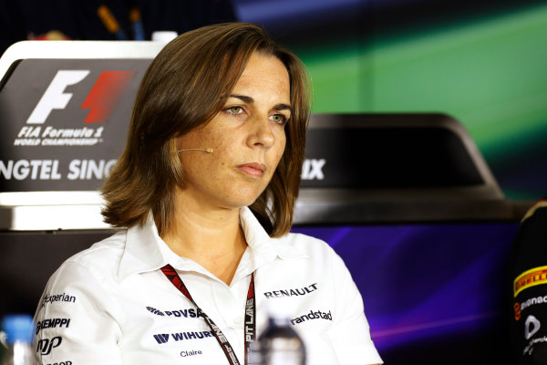 Marina Bay Circuit, Singapore. Friday 20th September 2013.  Claire Williams, Deputy Team Principal, Williams F1.  World Copyright: Alastair Staley/LAT Photographic. ref: Digital Image _R6T0960