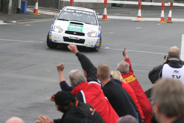 Manx International Rally, Isle of Man 10th-11th July,Mark Higgins/Bryan Thomas Subaru Impreza N11World Copyright: Jakob Ebrey/LAT Photographic