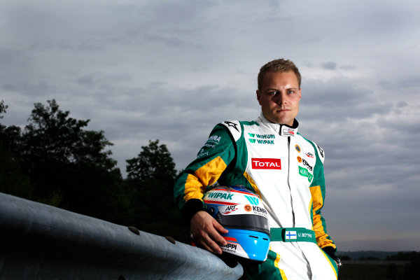 Round 6. Hungaroring, Budapest, Hungary, 28th July 2011.Thursday Preview. Valtteri Bottas, (FIN, Lotus ART) winner of race 10 at round five at the Nurburgring, Germany. Portrait. Photo: Drew Gibson/GP3 Media Service. ref: Digital Image DG5D7876