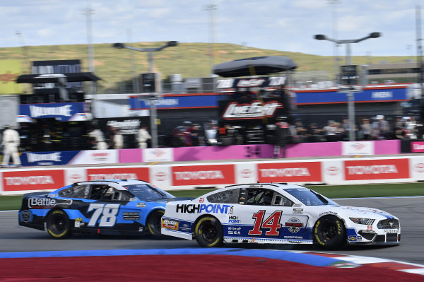 #14: Chase Briscoe, Stewart-Haas Racing, Ford Mustang Ford Performance Racing School/HighPoint, #78: Scott Heckert, Live Fast Motorsports, Ford Mustang Bremont Chronometers