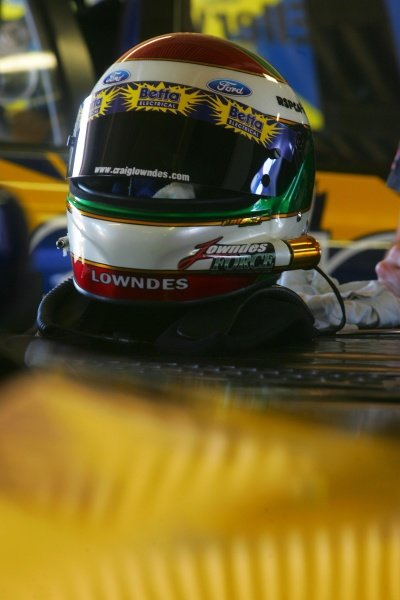 The helmet of Craig Lowndes (AUS) Betta Ford.