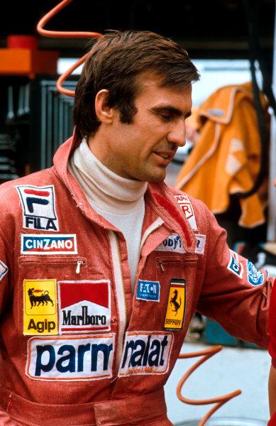 1977 Brazilian Grand Prix.Interlagos, Sao Paulo, Brazil.21-23 January 1977.Carlos Reutemann (Ferrari 312T2) 1st position.Ref-77 BRA 04.World Copyright - LAT Photographic