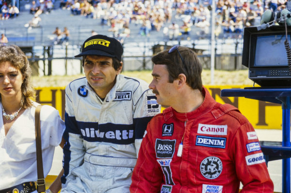 Nigel Mansell with Nelson Piquet.