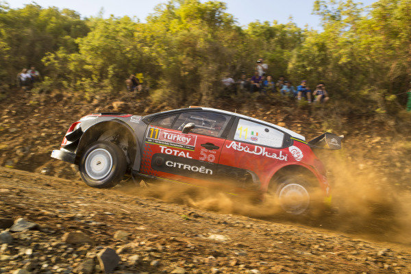 Craig Breen, Citroën Racing, hammers through the rough stages driving a Citroën C3 WRC