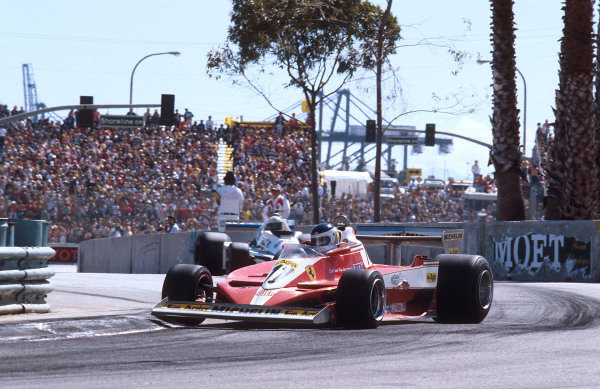 1978 United States Grand Prix West.Long Beach, California, USA.31/3-2/4 1978.Carlos Reutemann (Ferrari 312T3) 1st position.Ref-78 LB 06.World Copyright - LAT Photographic