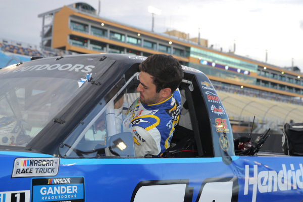 Chase Elliott, GMS Racing Chevrolet HendrickCars.com/SummerSilveradoSale!, Copyright: Chris Graythen/Getty Images.