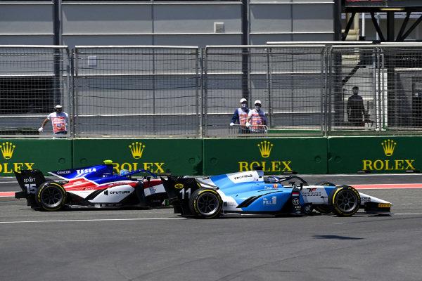 Richard Verschoor (NLD, MP Motorsport) and Guilherme Samaia (BRA, Charouz Racing System)
