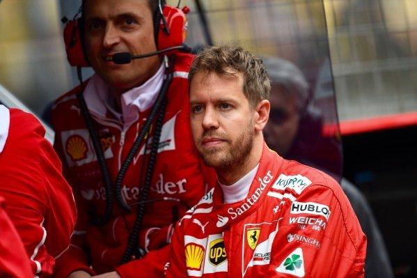 Sebastian Vettel (GER) Ferrari at Formula One World Championship, Rd2, Chinese Grand Prix, Practice, Shanghai, China, Friday 7 April 2017.