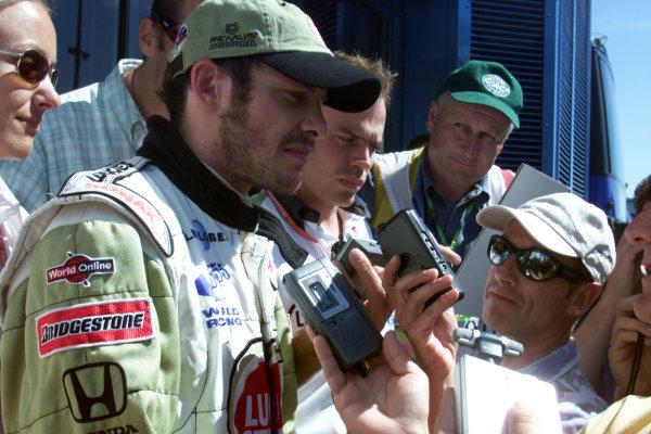 2000 Belgian Grand Prix.Spa-Francorchamps, Belgium. 25-27 August 2000.Jacques Villeneuve (B.A R. Honda).World Copyright - LAT Photographicref: 5 7mb DIGITAL