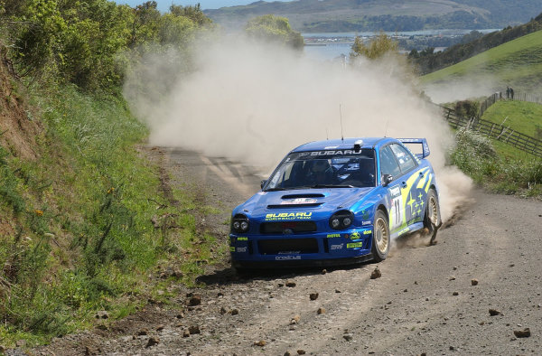 2002 World Rally Championship.Propecia Rally of New Zealand, Auckland, October 3rd-6th.Petter Solberg on stage 3.Photo: Ralph Hardwick/LAT
