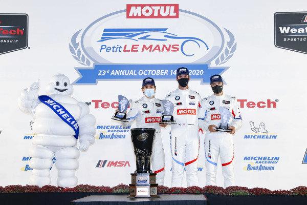#24 BMW Team RLL BMW M8 GTE, GTLM: John Edwards, Jesse Krohn, Augusto Farfus, podium