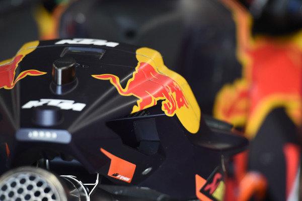 Red Bull KTM Factory bike detail.