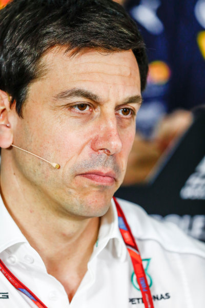 Albert Park, Melbourne, Australia. Friday 24 March 2017. Toto Wolff, Executive Director (Business), Mercedes AMG, in the Team Principals Press Conference. World Copyright: Sam Bloxham/LAT Images ref: Digital Image _W6I2419