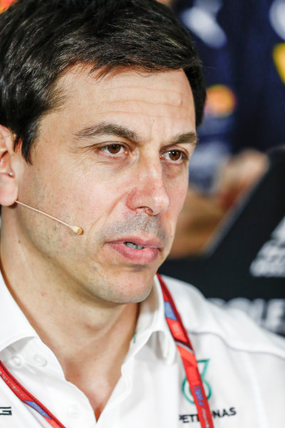Albert Park, Melbourne, Australia. Friday 24 March 2017. Toto Wolff, Executive Director (Business), Mercedes AMG, in the Team Principals Press Conference. World Copyright: Sam Bloxham/LAT Images ref: Digital Image _W6I2420