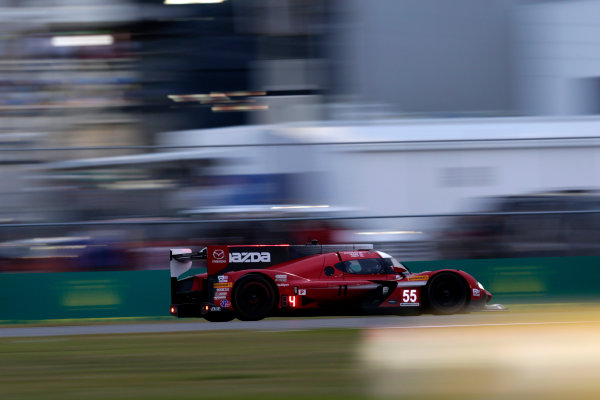 2017 Rolex 24 Hours. Daytona, Florida, USA Saturday 28 January 2017. #55 Mazda Motorsports Mazda DPi: Jonathan Bomarito, Tristan Nunez, Spencer Pigot World Copyright: Alexander Trienitz/LAT Images ref: Digital Image 2017-24h-Daytona-AT1-3606