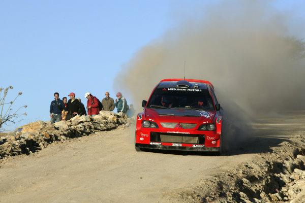 2004 FIA World Rally Champs. Round three, Corona Rally Mexico.11th-14th March 2004.Gilles Panizzi, Mitsubishi, action.World Copyright: McKlein/LAT
