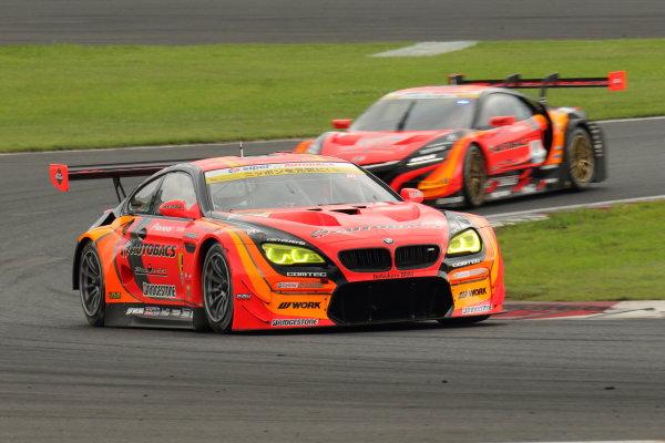 2017 Japanese Super GT Series. Fuji, Japan. 5th - 6th August 2017. Rd 5. GT300 Winner Shinichi Takagi & Sean Walkinshaw ( #55 ARTA BMW M6 GT3 )  action World Copyright: Yasushi Ishihara / LAT Images. Ref: 2017JSGT_Rd5_009