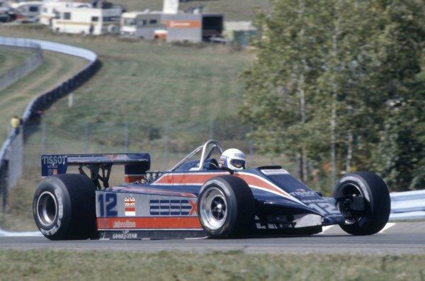 1980 United States Grand Prix.Watkins Glen, USA. 3-5 October 1980.Elio de Angelis (Lotus 81-Ford Cosworth), 4th position.World Copyright: LAT PhotographicRef: 35mm transparency 80USA21