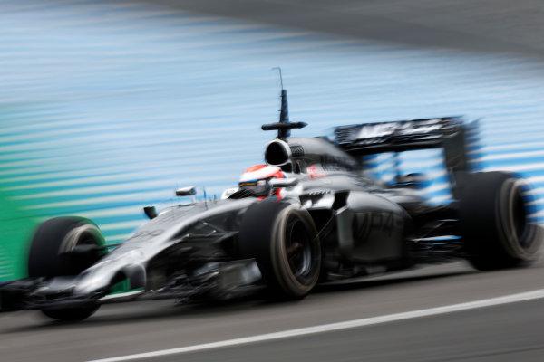 2014 F1 Pre Season Test 1 - Day 4 Circuito de Jerez, Jerez, Spain. Friday 31 January 2014. Kevin Magnussen, McLaren MP4-29 Mercedes. World Copyright: Andrew Ferraro/LAT Photographic. ref: Digital Image _79P7816.JPG