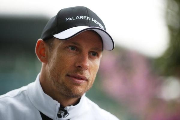 Shanghai International Circuit, Shanghai, China. Thursday 9 April 2015. Jenson Button, McLaren. World Copyright: Steven Tee/LAT Photographic. ref: Digital Image _X0W5355