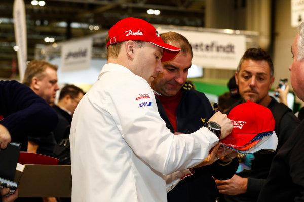 Autosport International Exhibition. National Exhibition Centre, Birmingham, UK. Thursday 11th January 2017. Jari-Matti Latvala signs autographs.World Copyright: Ashleigh Hartwell/LAT Images Ref: _O3I7598