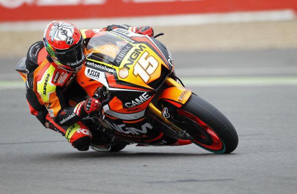 2014 MotoGP Championship  British Grand Prix.  Silverstone, England. 29th - 30st August 2014.  Alex De Angelis, Forward Yamaha.  Ref: _W1_5333. World copyright: Kevin Wood/LAT Photographic