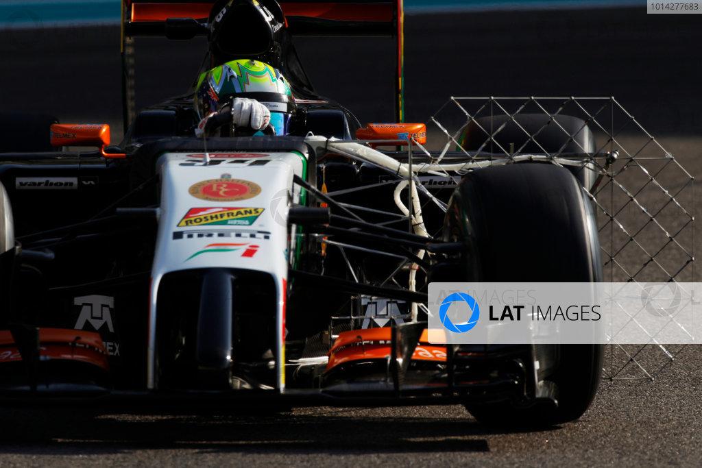 Yas Marina Circuit, Abu Dhabi, United Arab Emirates. Wednesday 26 November 2014. Spike Goddard, Force India VJM07 Mercedes.  World Copyright: Sam Bloxham/LAT Photographic. ref: Digital Image _G7C8669