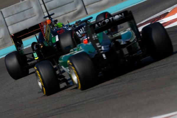 Yas Marina Circuit, Abu Dhabi, United Arab Emirates. Wednesday 26 November 2014. Spike Goddard, Force India VJM07 Mercedes.  World Copyright: Sam Bloxham/LAT Photographic. ref: Digital Image _SBL8906