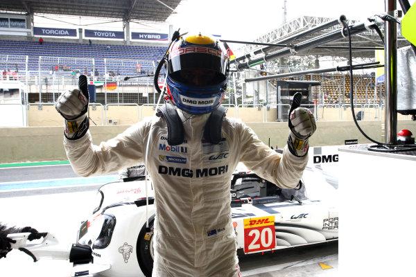 2014 World Endurance Championship, Interlagos, Brazil. 28th - 30th November 2014. Mark Webber Porsche AG Porsche 919 Hybrid. World Copyright: Ebrey / LAT Photographic.