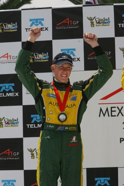 25.03 2007 Mexico City, Mexico, 3rd place Ian Dyk, Driver of A1Team Australia - A1GP World Cup of Motorsport 2006/07, Round 9, Mexico City, Sunday Race 1 - Copyright A1GP - Free for editorial usage