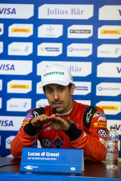 2015/2016 FIA Formula E Championship. Paris ePrix, Paris, France. Saturday 23 April 2016. Lucas Di Grassi (BRA), ABT Audi Sport FE01. Photo: Zak Mauger/LAT/Formula E ref: Digital Image _79P9473