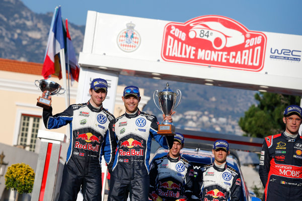 2016 World Rally Championship, Round 01, Rally Monte Carlo, 21st - 24th January, 2016 Andreas Mikkelsen, VW, 2nd place overall  Worldwide Copyright: McKlein/LAT