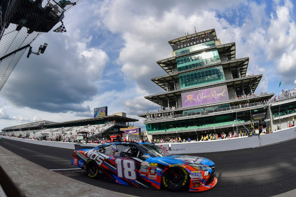 22-23 July, 2016, Indianapolis, Indiana USA Kyle Busch, NOS Energy Drink Toyota Camry takes the checkered flag ?2016, Logan Whitton  LAT Photo USA