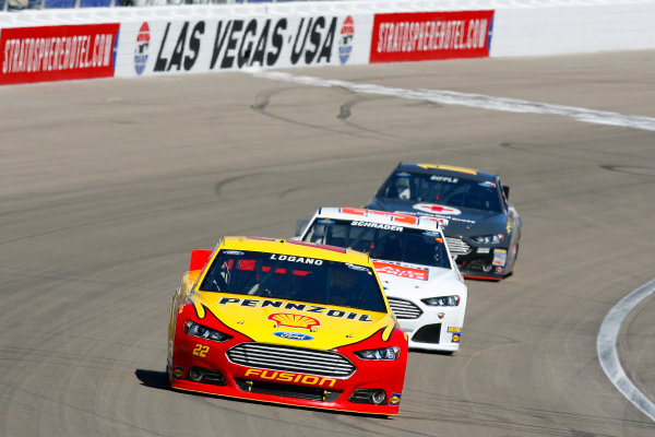 8-10 March, 2013, Las Vegas, Nevada USA Joey Logano, Ken Schrader and Greg Biffle © 2013, Russell LaBounty LAT Photo USA .